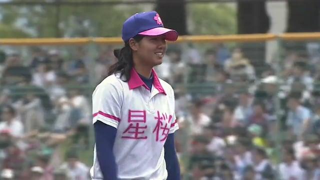 古谷恵菜とみなみ(高塚南海)の始球式。かわいい女子プロ野球選手
