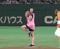 1689 246x200 - 浅田舞がマウンドを降りて前から始球式!名古屋出身でマックのCM出演