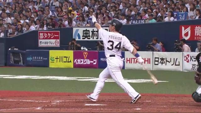 吉田正尚(オリックス)の守備や打撃。フルスイングが魅力のパワーヒッター