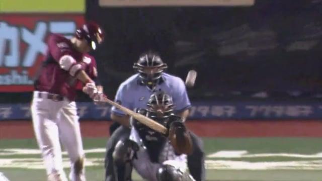 田中和基(楽天)の守備や打撃。両打席本塁打の強打者も19年は怪我で出遅れ?
