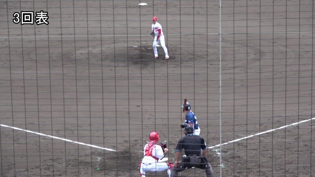 床田寛樹(カープ)の投球。トミー・ジョン手術から復帰した期待の左腕投手