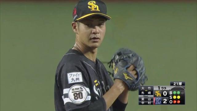 大竹耕太郎の投球。育成ドラフト指名から即戦力の活躍を見せた技巧派左腕