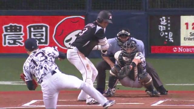 山岡泰輔(オリックス)の投球。スライダーが決め球の小柄な投手