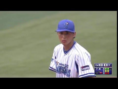 熊原健人(楽天)の投球。横浜ベイスターズからトレード移籍の仙台大学卒右腕