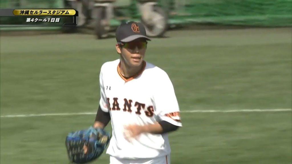 松原聖弥(巨人)の守備や打撃。俊足強肩の外野手でMLB選抜から盗塁も