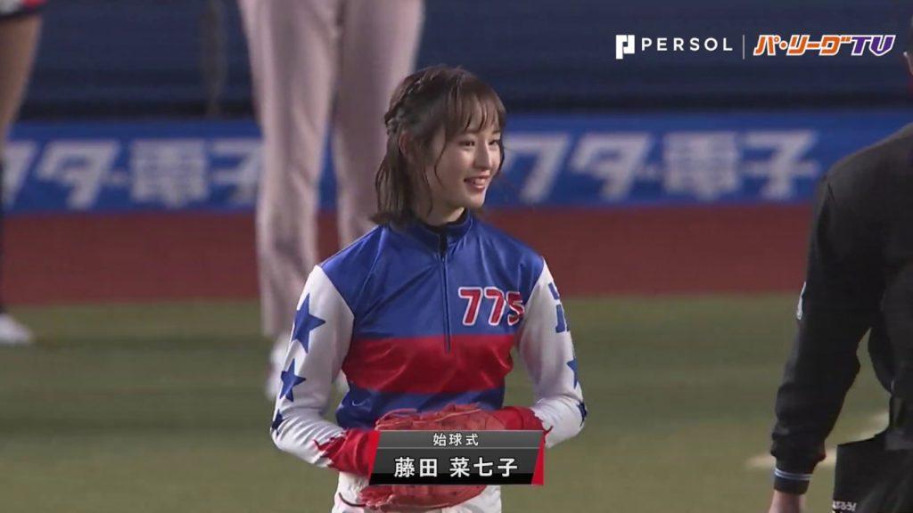藤田菜七子の始球式。3年連続ロッテ戦で起用。過去の投球動画も