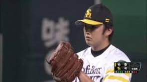飯田優也(阪神)の投球。ソフトバンクからトレード移籍の速球派左腕