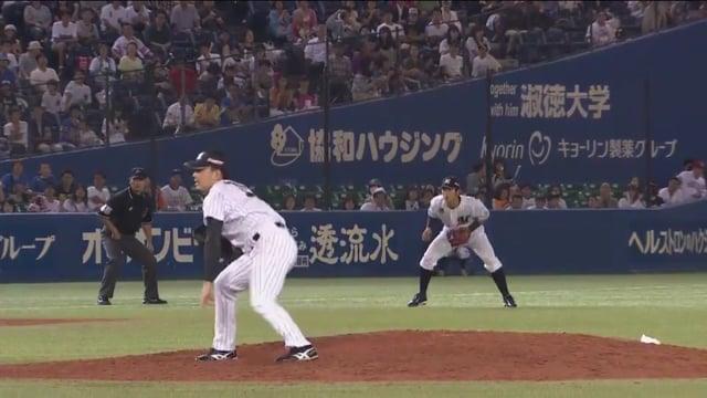 成田翔(ロッテ)の投球。侍ジャパンにも選出された小柄なイケメン左腕