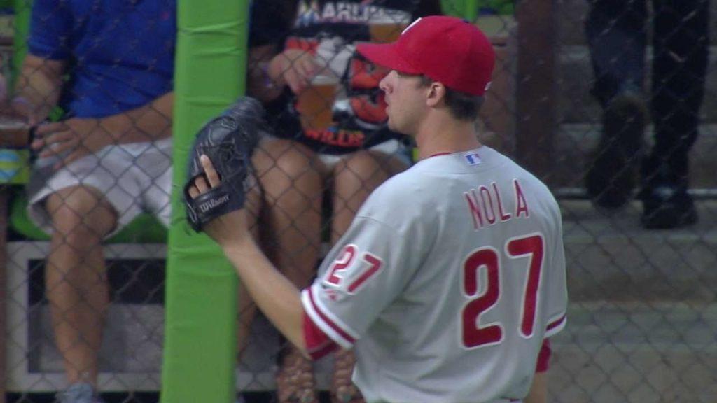 アーロン・ノラの投球。カーブが良いフィリーズのエース格に成長した投手