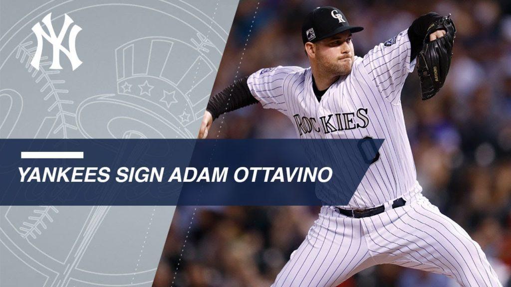 アダム・オッタビーノ(ヤンキース)の投球。スライダーの曲がりが凄い!