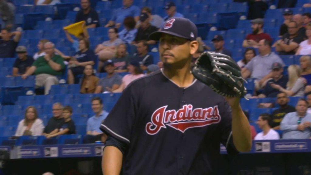 カルロス・カラスコの投球。白血病を公表したインディアンスの右腕