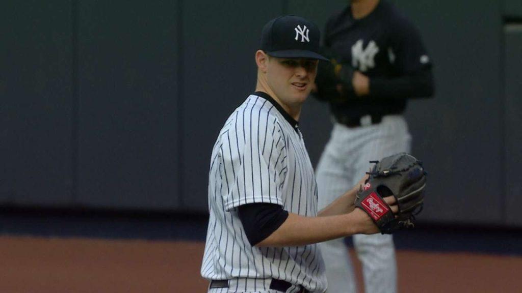 ジョーダン・モンゴメリーの投球。ヤンキースの長身技巧派左腕