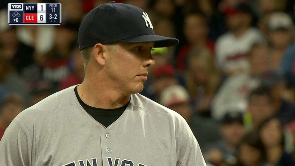 チャド・グリーンの投球。奪三振能力もあるヤンキースのリリーフ右腕