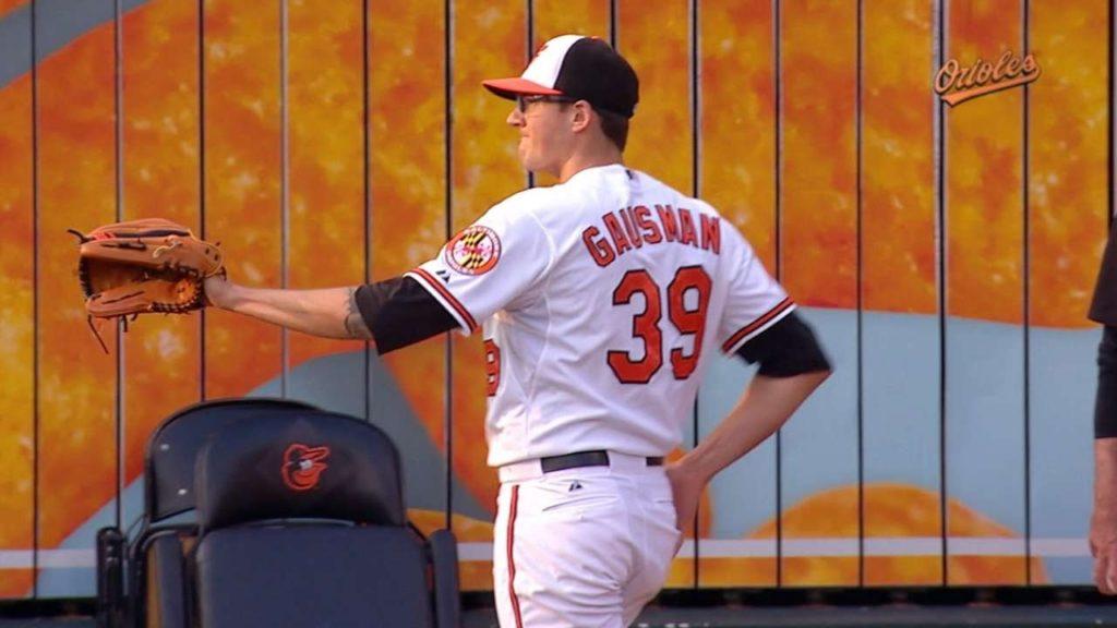 ケビン・ゴーズマンの投球。スプリッターが武器の先発投手