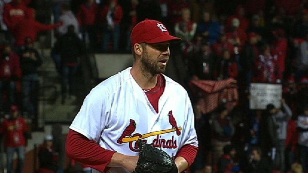 クリス・カーペンターの投球。カージナルスで活躍したエース投手